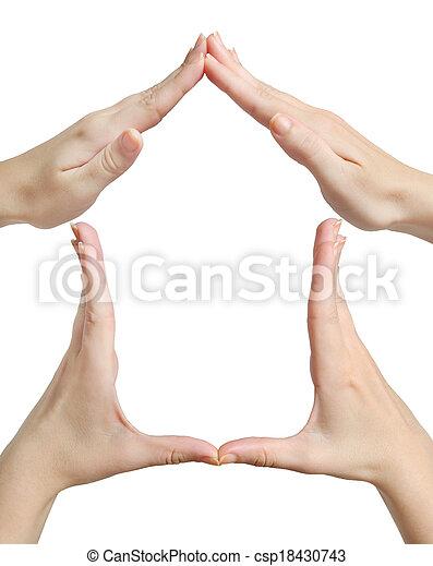 Symbol house - csp18430743