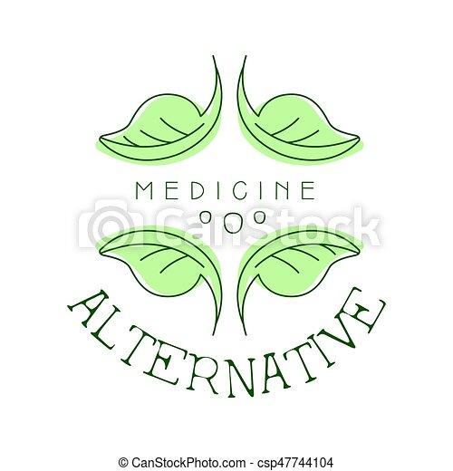 symbol, illustration, vektor, medicin, logo, alternativ - csp47744104