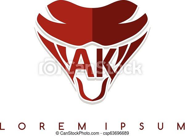 symbol, logotype, zeichen, schlange, schablone, logo, ikone - csp63696689