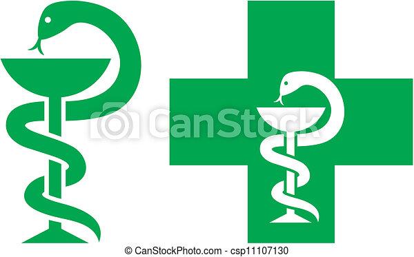symbol, medizin, kreuz - csp11107130