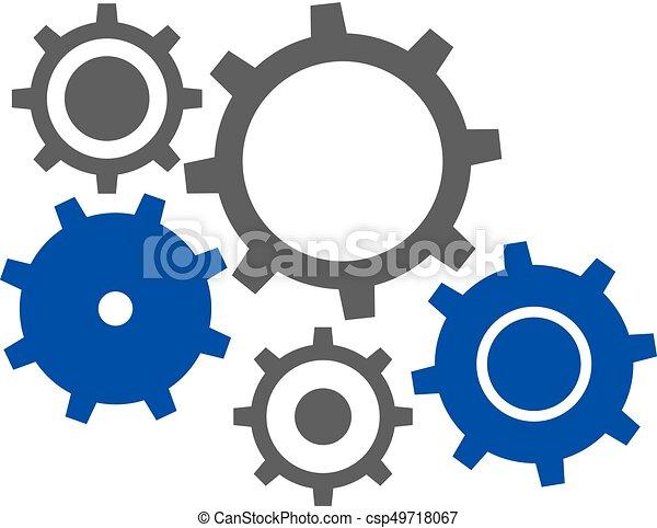 Symbol, motor. Symbol, design, motor, kreativ.