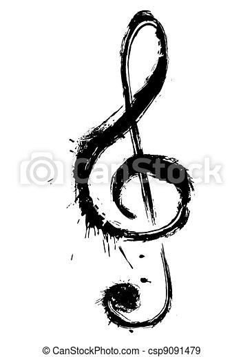 symbol, musik - csp9091479