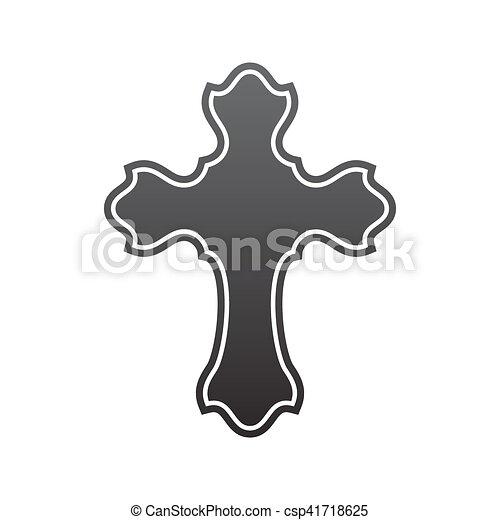 Symbol Of A Church Cross Christianity Religion Symbol Vector