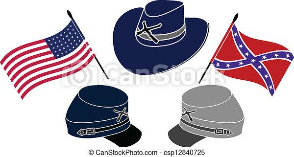 symbol of american civil war stencil second variant vector rh canstockphoto ca Civil War Animated Clip Art Civil War Animated Clip Art