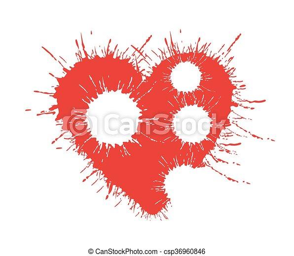 Symbol Of Broken Heart A Symbol Of The Red Broken Heart