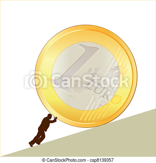 Symbol of business with EURO coin - csp8139357