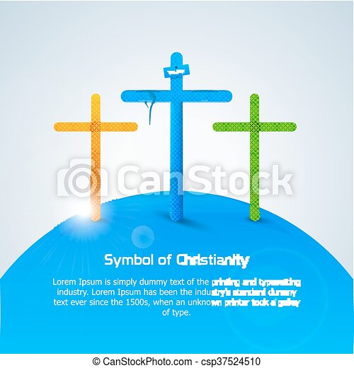 Symbol Of Christianity Cross Symbol Of Christianity Cross Concept