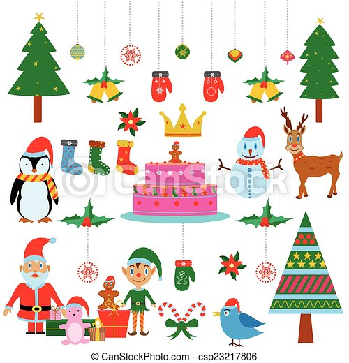 symbol of colourful christmas festival csp23217806