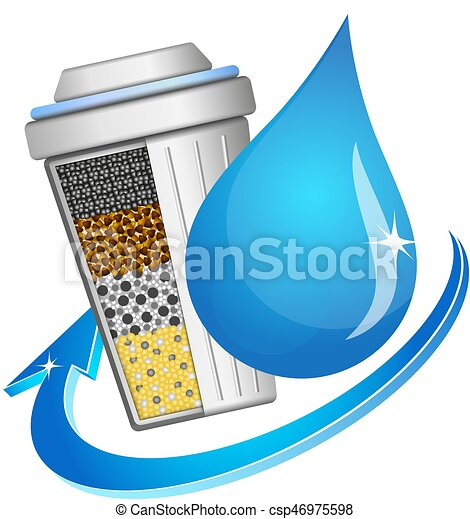 Symbol of filtration and water purification - csp46975598