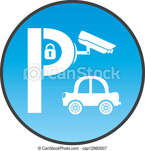 symbol of guarded parking with car  padlock and security police car clip art free images police car clip art images