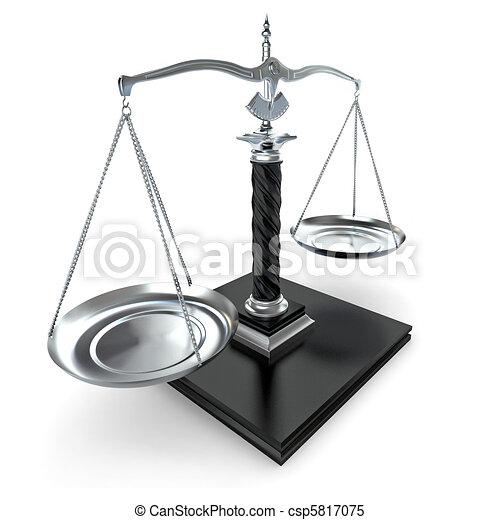 Symbol of justice. Scale. 3d - csp5817075