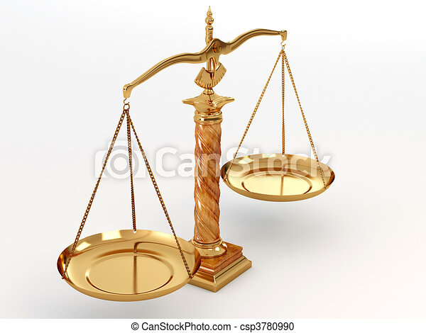 Symbol Of Justice Scale 3d Stock Illustration Search Clipart