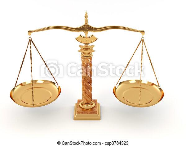 Symbol Of Justice Scale 3d