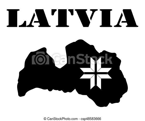Symbol Of Latvia And Maps