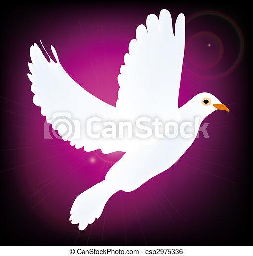 symbol of peace pigeon - csp2975336