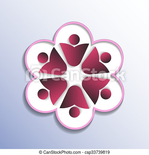 Simple People Symbol Arranged In A Circle This Represents The