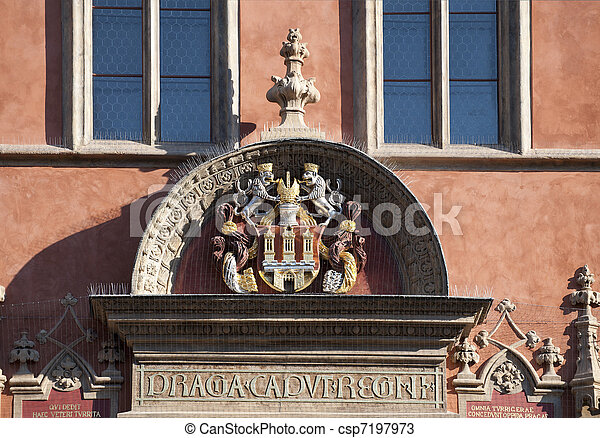 Symbol Of Prague At Old City Hall In Prague Stock Photos Search