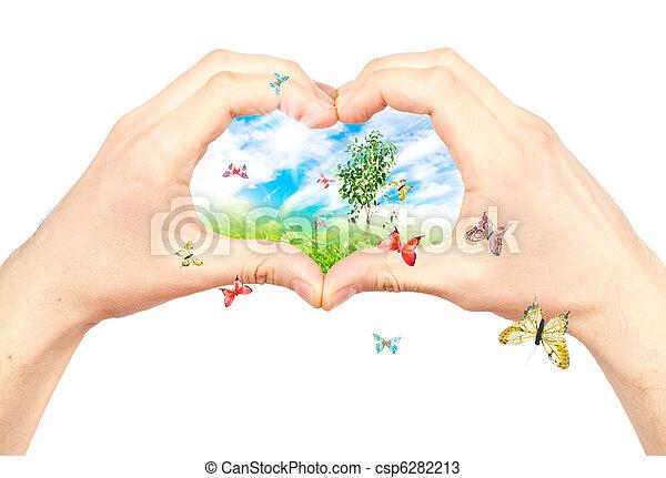 Symbol of the environment. - csp6282213