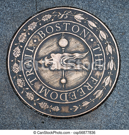 Symbol of The Freedom Trail in Boston - csp56877836
