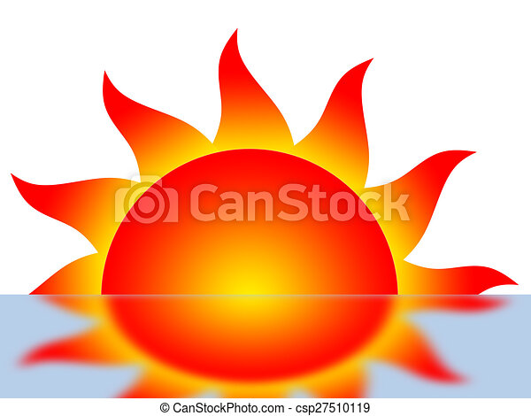 Symbol Of The Sun And Its Reflection Clipart Search Illustration