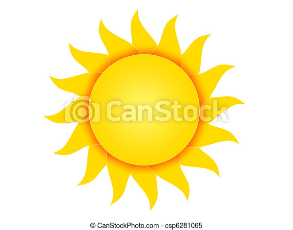 Symbol Of The Sun Symbol Of The Yellow Sun On A White Background