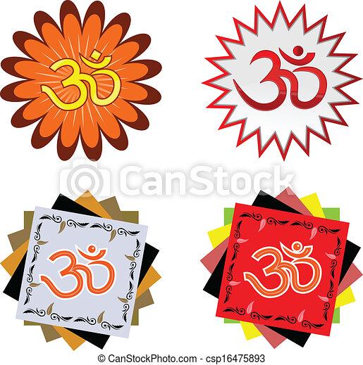 Hindu Religion Symbol Ohm