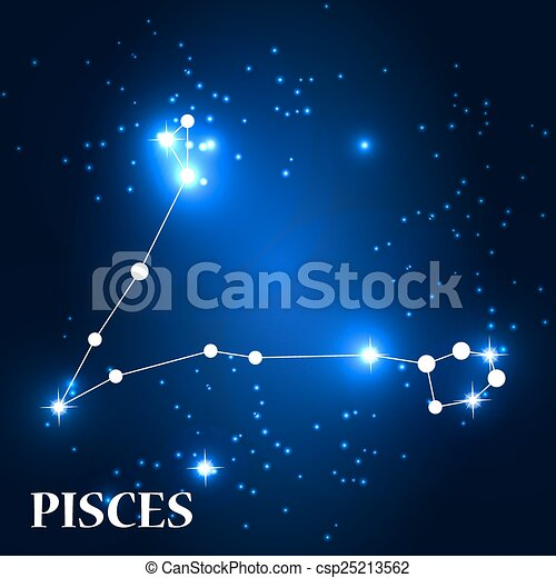 Symbol Pisces Zodiac Sign Vector Illustration Eps10 Clip Art