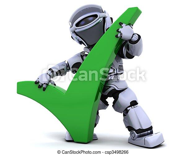 symbol, roboter - csp3498266