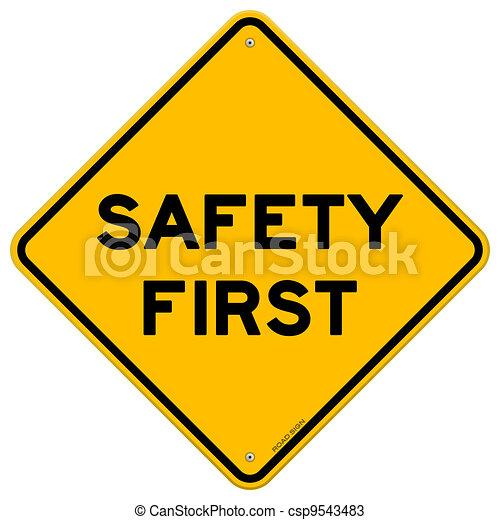 symbol, säkerhet först - csp9543483