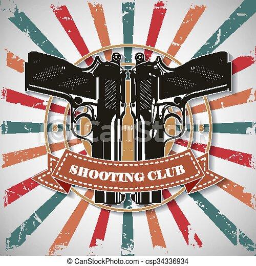 Symbol shooting club - csp34336934