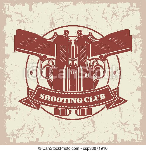 Symbol shooting club - csp38871916