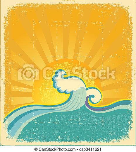 Sonnenschirm. Symbolvektor abstrakt - csp8411621