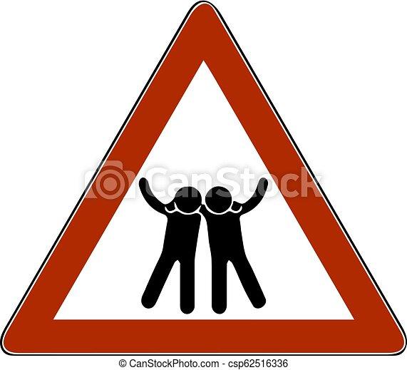 symbol, wektor, przyjaciele, sylwetka, ilustracja - csp62516336