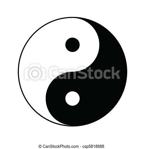 symbol, yin yang - csp5818688