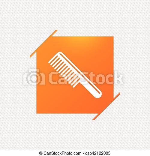 symbol., znak, włosy, fryzjer, icon., grzebień - csp42122005