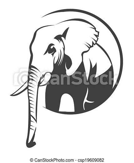 symbole l phant vecteur search clip art illustration. Black Bedroom Furniture Sets. Home Design Ideas