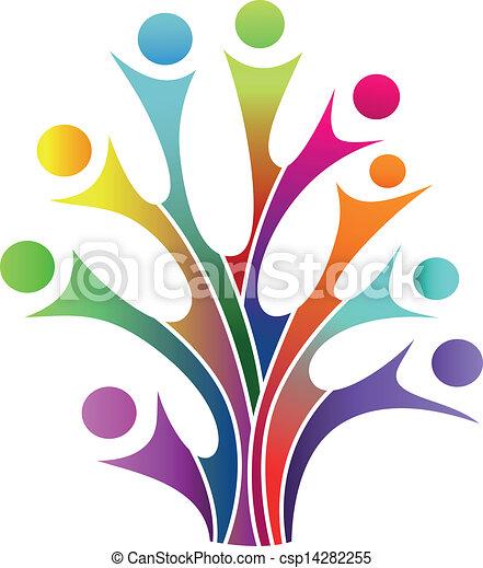 symbole, arbre, famille - csp14282255