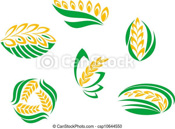 symbole, betriebe, getreide - csp10644550