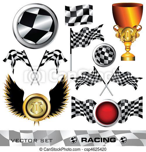 symbole, checkered, ensemble - csp4625420