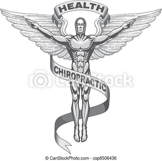 symbole, chiropraxie - csp6506436