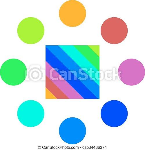 Symbole Couleurs Palette