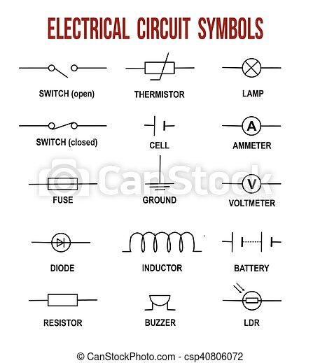 Symbole, elektrischer kreislauf. (helpful, hintergrund, &, abbildung ...