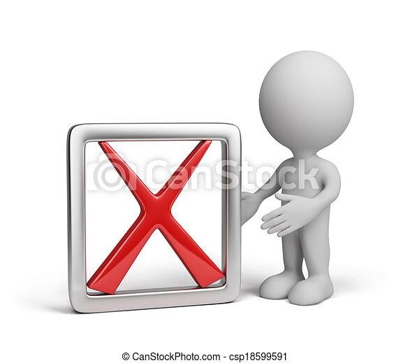 symbole, homme, négatif, 3d - csp18599591