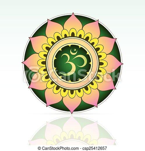 symbole, indien, aum, sacré - csp25412657
