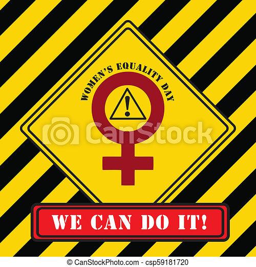 symbole, industriel, égalité, jour, femmes - csp59181720