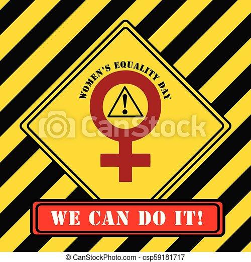 symbole, industriel, égalité, jour, femmes - csp59181717