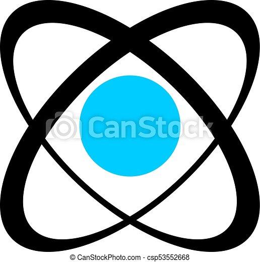 symbole, industriel, atomique - csp53552668
