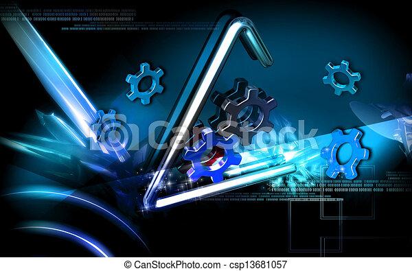 symbole, industriel - csp13681057