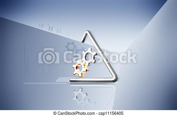 symbole, industriel - csp11156405