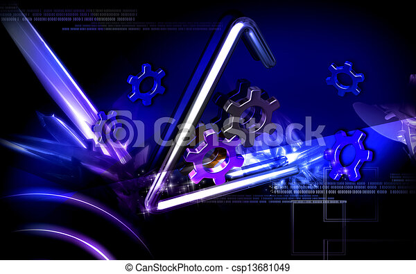 symbole, industriel - csp13681049